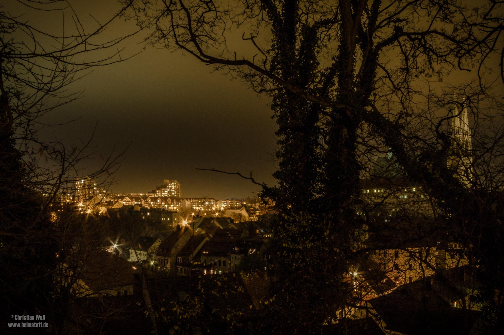 Abendlicher Blick über die Görlitzer Nikolaivorstadt bis nach Zgorzelec.