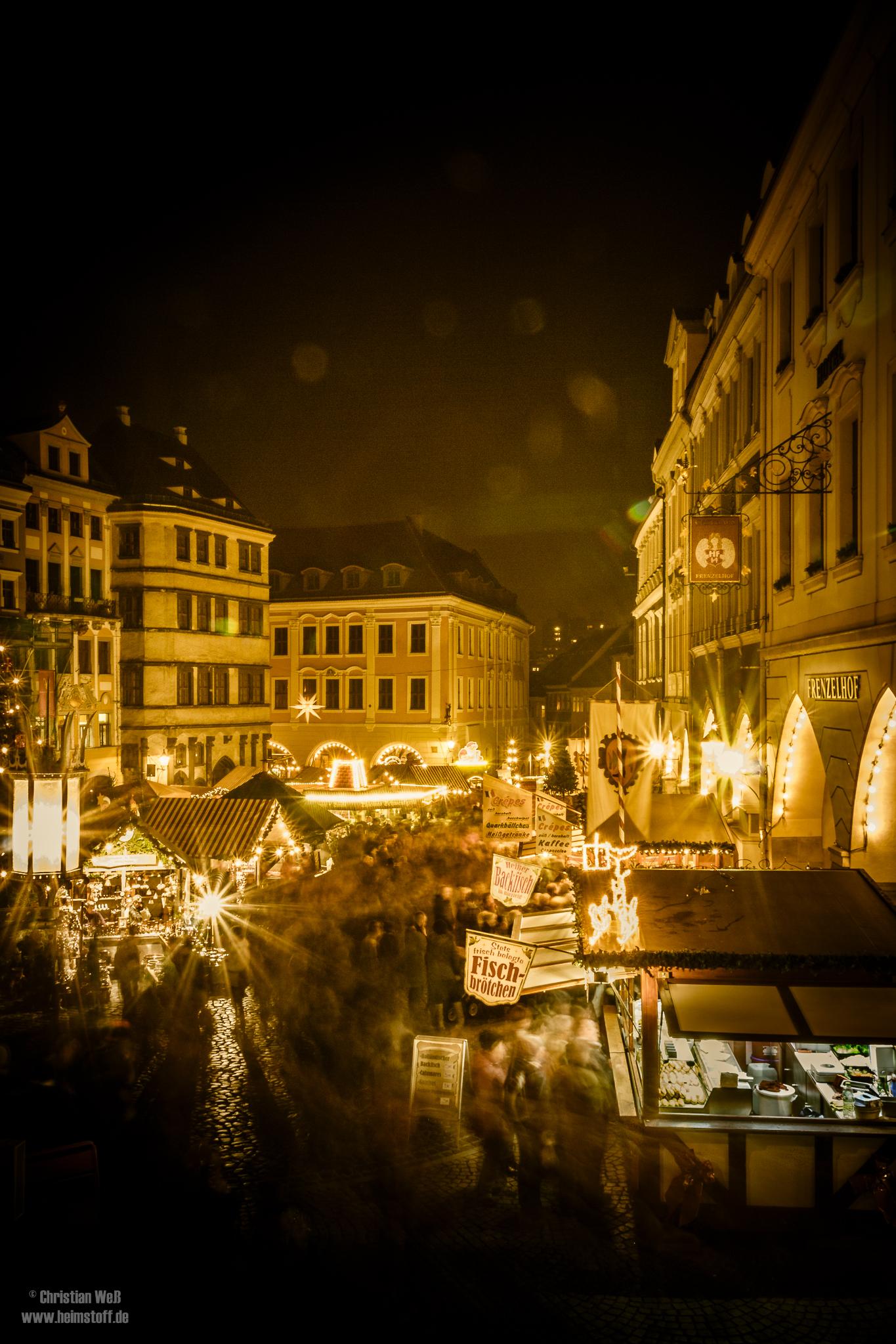 Weihnachtstreiben am Untermarkt.