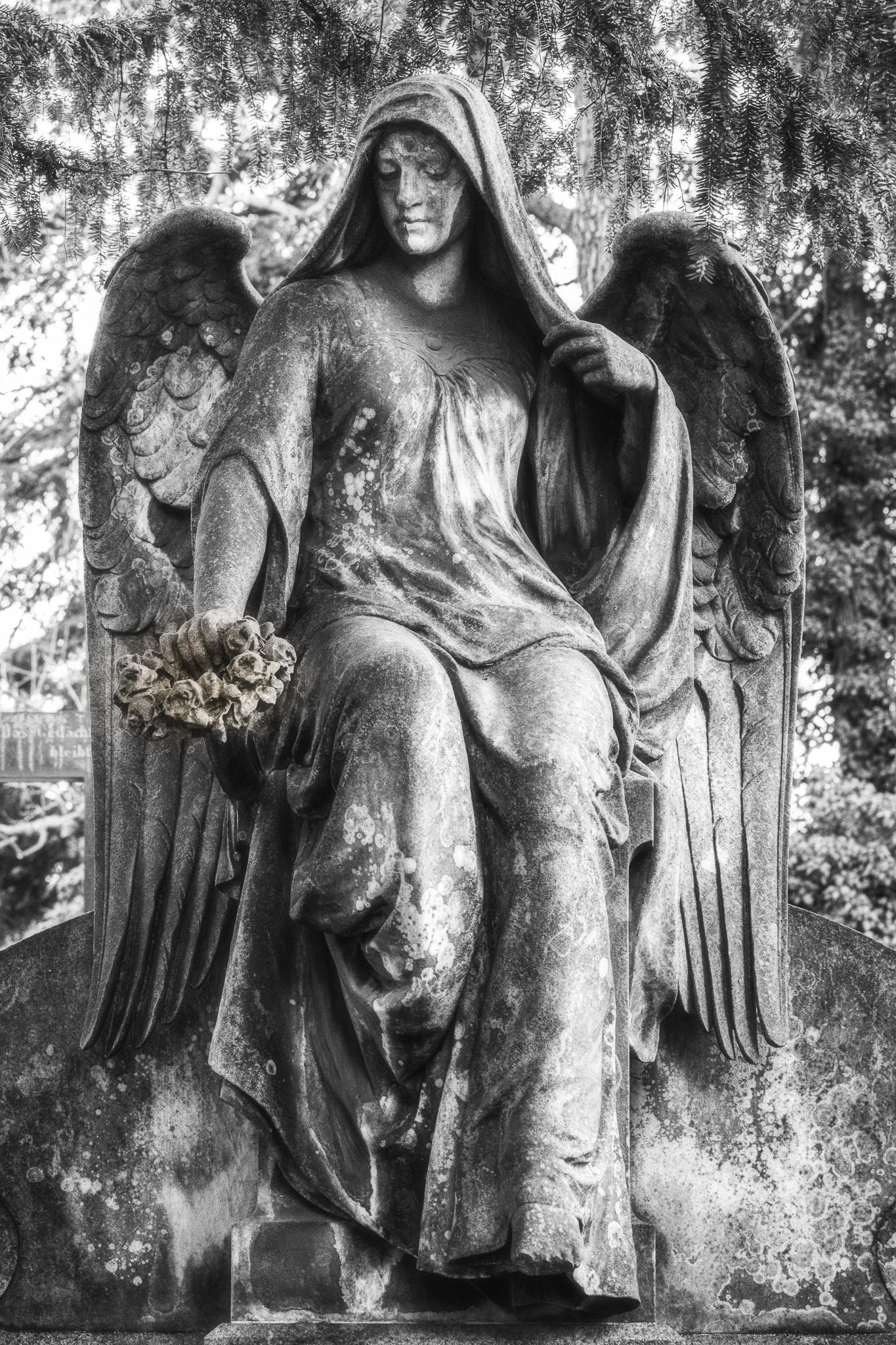 Ein steinerner Engel.