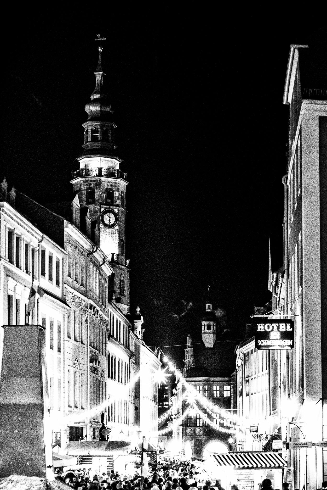 Blick auf den Schlesischen Christkindelmarkt zu Görlitz.