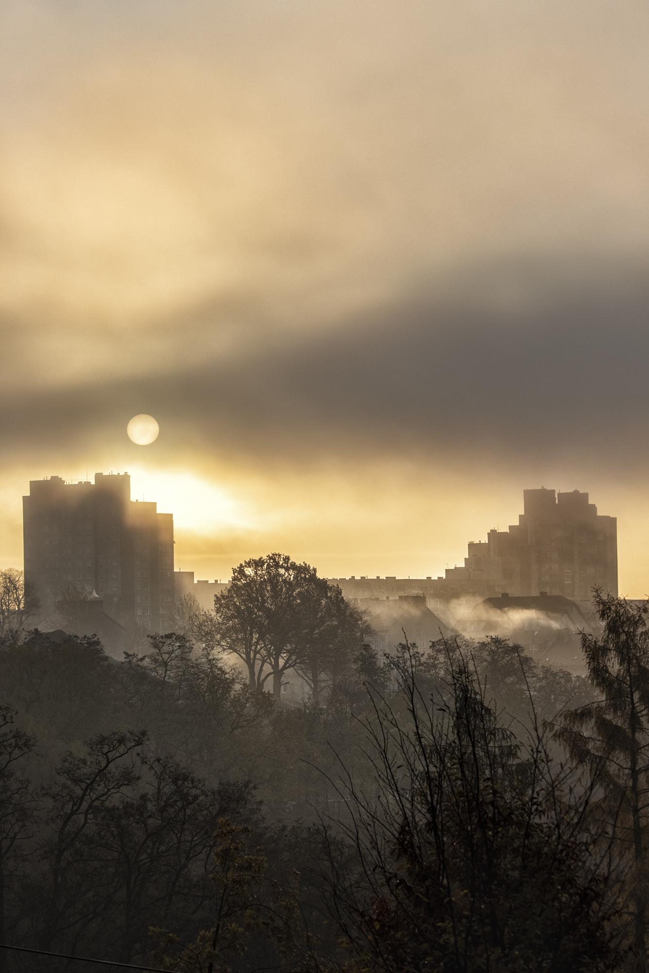 Sonnenaufgang über Zgorzelec.